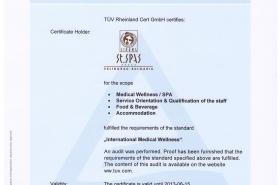 Сертификат TÜV Свети Спас
